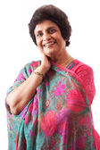 Happy Elderly East Indian Lady — Stock Photo