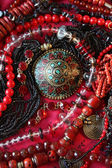 Jewelry - red and black — Stock Photo