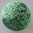 Foto Stock: Sphere from threads
