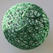 Foto de Stock  : Sphere from threads