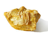 Mineral collection - orpiment — Stock Photo