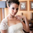 Bride in natural light — Stock Photo