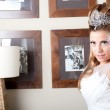 Blond bride with tiara — Stock Photo #9551185