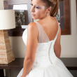 Backside view of dress and hair — Stock Photo #9551190