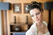 Beautiful bride looking — Stock Photo