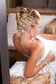 Bride hair style — Stock Photo
