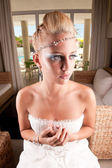 Young bride waiting — Foto Stock