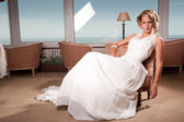 Young bride seated — Stock Photo