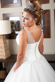 Backside view of dress and hair — Stock Photo
