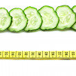Cucumber and meter — Stock Photo