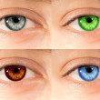Colored eyes — Stock Photo