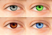 Colored eyes — Stock fotografie