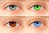 Kolorowe oczy — Zdjęcie stockowe
