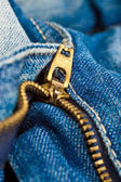 Closeup shot of blue jeans — Stock Photo