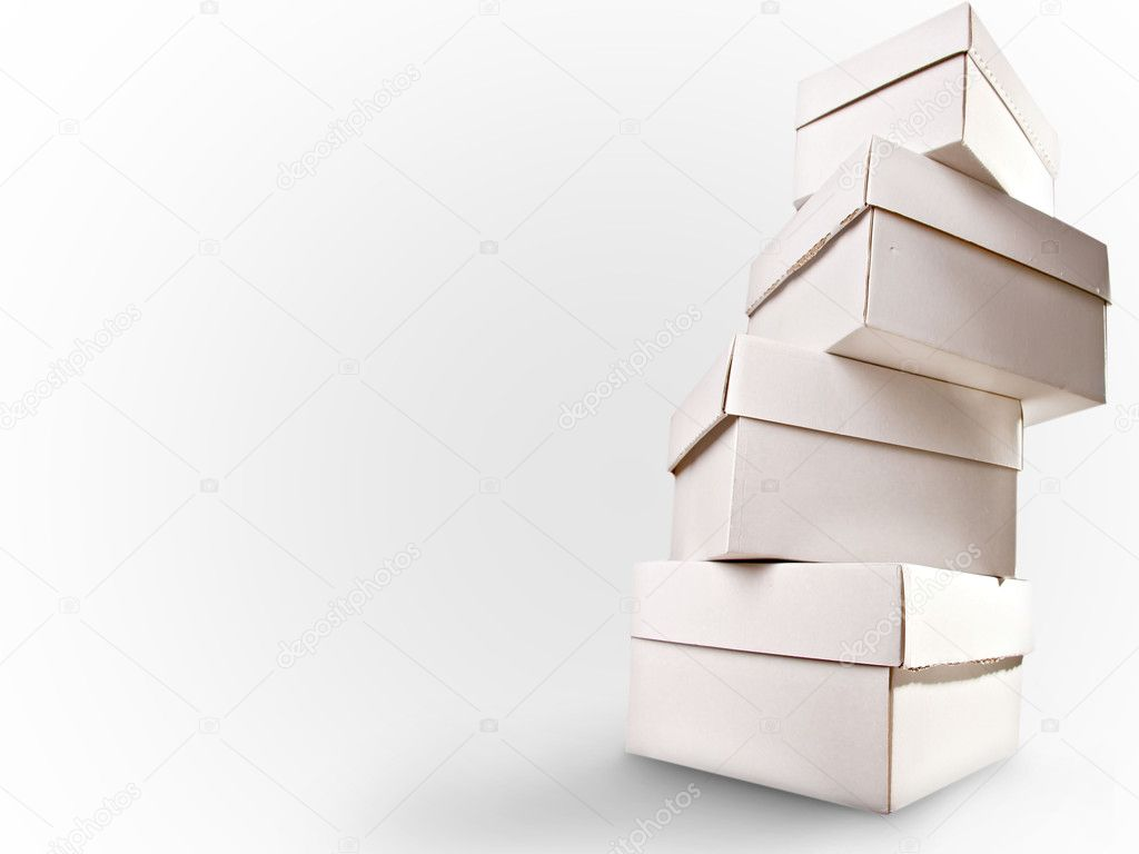 Paper boxes on white background — Stock Photo #9236236