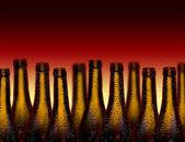 Glasflaskor för vin — Stockfoto