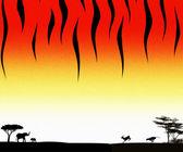 Tygrys wektor czarny i pomarańczowy projekt pozbawiony — Zdjęcie stockowe