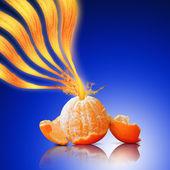 Salpicos de suco de laranja — Foto Stock