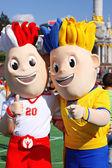 Symbol of EURO 2012 — Stock Photo