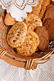 Chocolate and nut cookies — Stock Photo