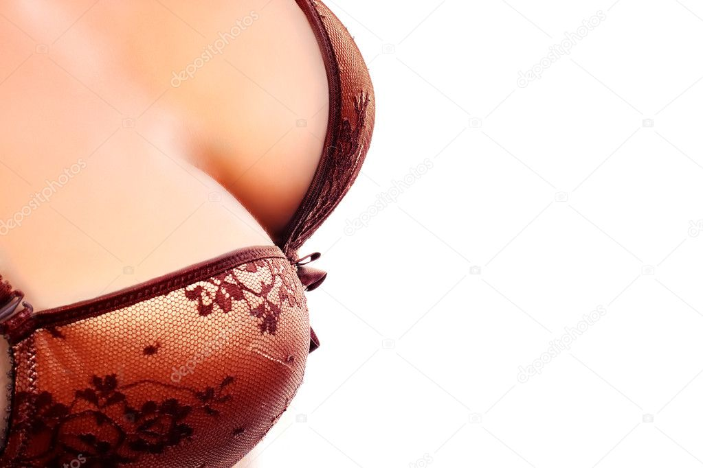 Cropped image of busty girl in  lingerie — Stock Photo #9798729