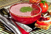 Russian cuisine soup — Stock Photo