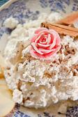 Cheese desert with cinnamon — Stock Photo