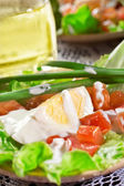 Fresh Vegetables salad, and other foodstuffs. — Stock Photo
