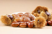 Chestnuts and marron glacé — Stock Photo