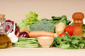 Ingredients for typical italian minestrone soup — Stock Photo