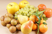 Organic autumn fruits — Stock Photo