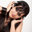 Young woman listening to the music — Stock Photo #8081129