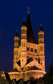 Great Saint Martin Basilica in Cologne (Koeln, Germany) — Stock Photo