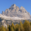 Dolomites panorama - Tre Cime di Lavaredo - Stock Photo