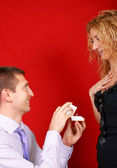 Wedding proposal — Stock Photo