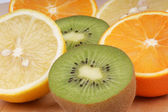 Vitamin C rich fruits — Stock Photo