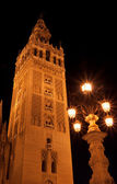 The Giralda tower at night — Stock Photo