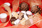 Assorted Christmas gingerbread cookies — Stock Photo