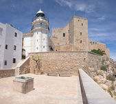 The castle and lighthouse of Peniscola (Spain) — Stock Photo