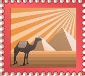 Vector postmark — Stock Vector