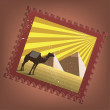 Stockvector : Postmark with pyramids
