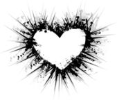 Grunge heart — Stock Vector