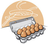 Eggs in the package — Stock Vector