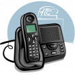 Cordless phone — Stock Vector
