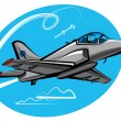 Stock Vector: Jet fighter