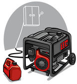 Power generator — Stock Vector