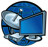 Satellite television — Stock Vector