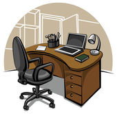 Office work place — Stock Vector