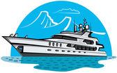 Luxury yacht — Stock Vector