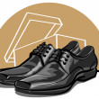 Men shoes — Stock Vector